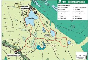 Lake Paukjärv nature trail - map