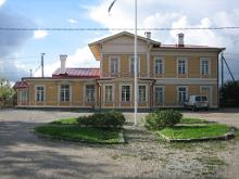 Paldiski railway station - main building