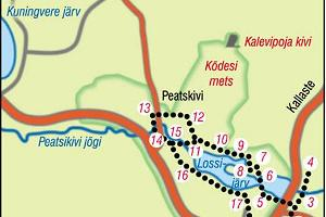 Map of the Alatskivi Hiking Trail