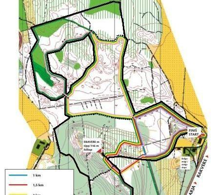Ebavere hiking trail – map