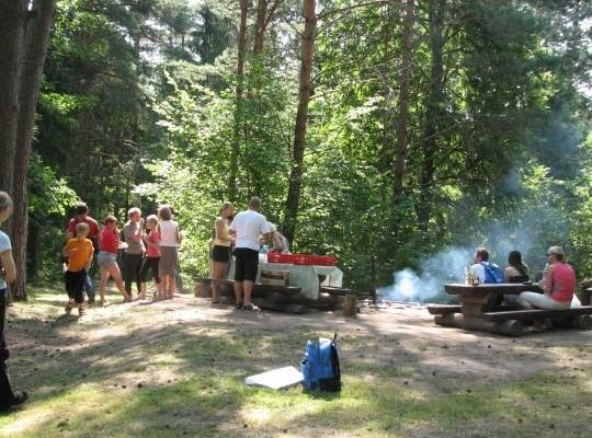 Campfire area on Vapramäe Hill
