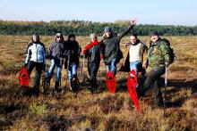 Adventurous bogshoeing hike in Lindi fen