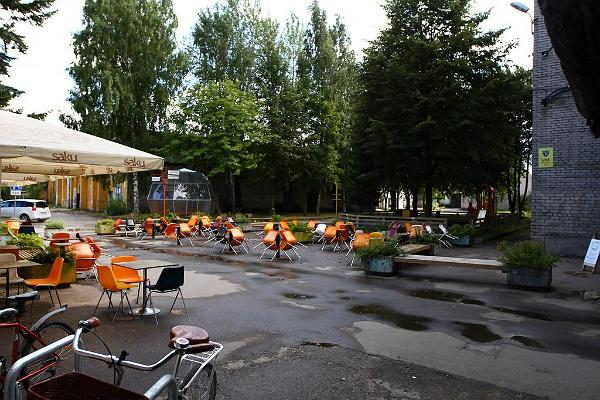Courtyard in the Telliskivi Creative City