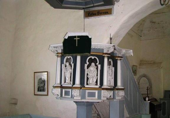 The pulpit of Noarootsi Church