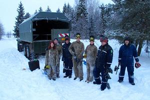 Winter paintball