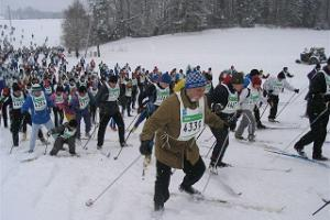 Start of the 31 km Tartu Marathon Track