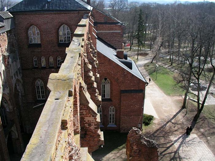 Looking from the tower down to the museum