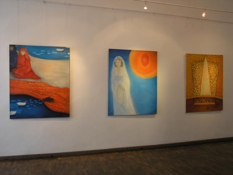 Teacher's House gallery - paintings by Airi Luige