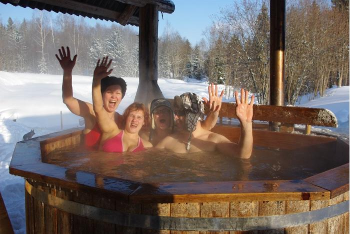 European Sauna Marathon in Estonian Winter Capital