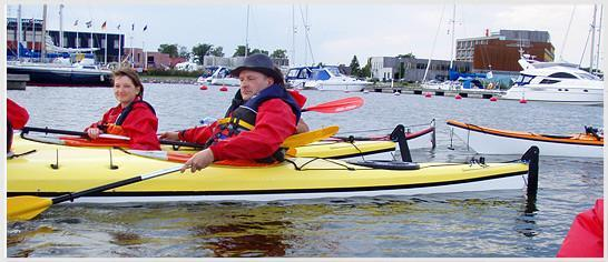 Easy kayak ride on Kuressaare Bay
