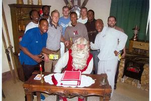 Santa Clause with visitors