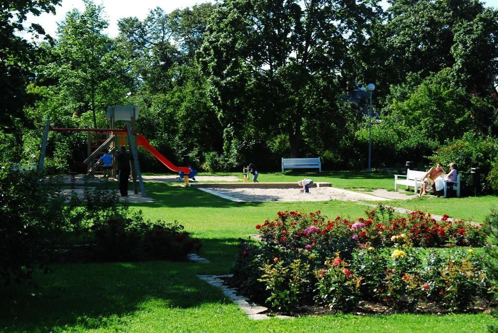 Children's playground on Posti Street in Haapsalu.