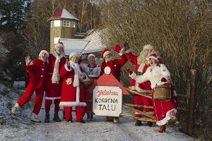 Santa at the gates of Korstna Farm
