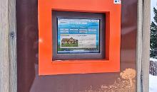 Interactive information kiosk on the Central Square of Kärdla
