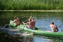 Canoe hire at the Reiu Holiday Centre