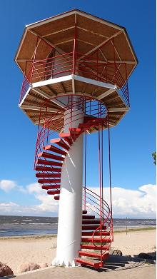 Lifeguard tower on Kabli beach
