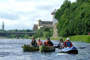 Canoeing on Narva River