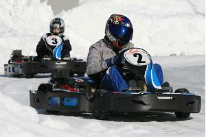 Go-karting on ice at Laitse Rally Park