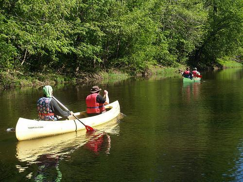 Canoeing on the rivers of Soomaa