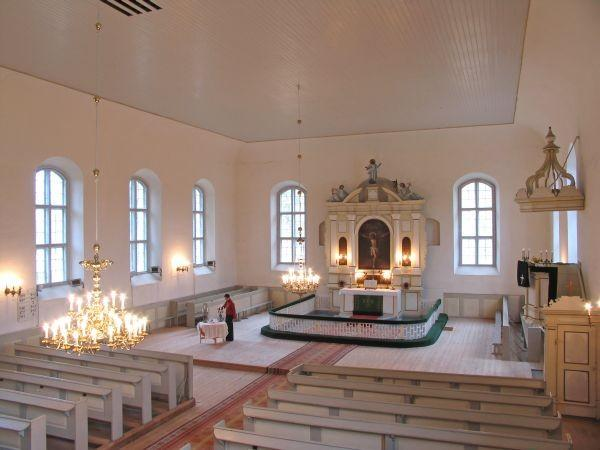 St. Mary's Church in Rõuge — interior