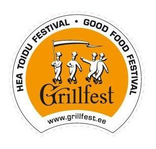 The Good Food Festival - Logo of the Grillfest depicting jolly chefs.