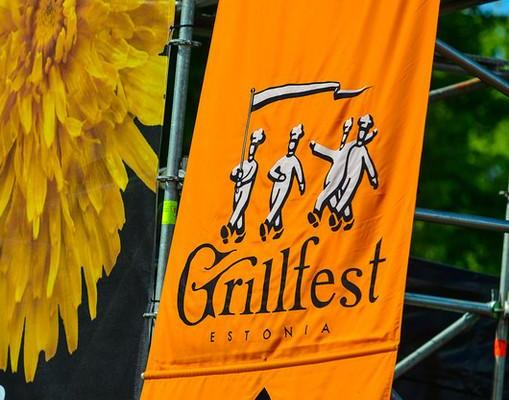 The flag of the first Grillfest from 1999.