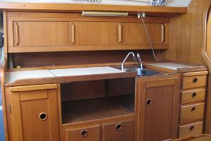 Yacht kitchen