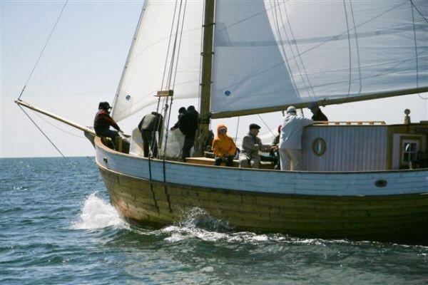 Cruises with an old wooden yacht