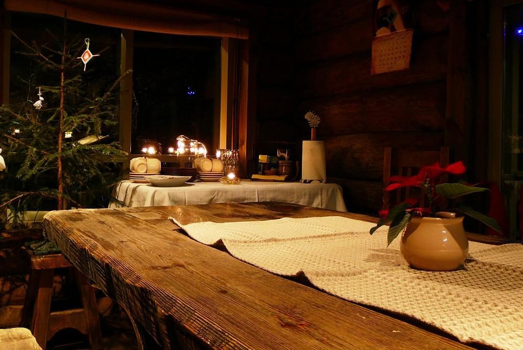 Resting area in the Sauna house