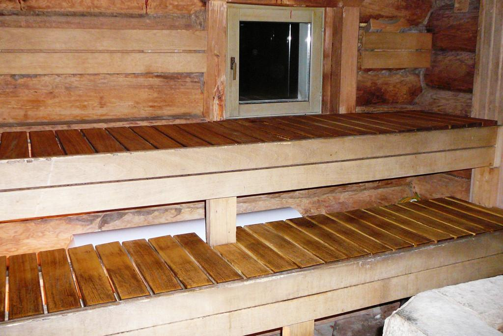 Steam room in the Sauna house