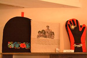Beautiful potholders from Prosinga and coffeepot warmers