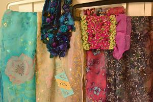 Silk scarves by Hana Arras