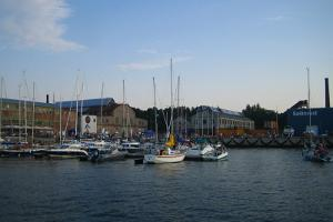 A view of the Noblessner marina