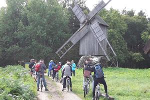 Cycling in Open Air Museum