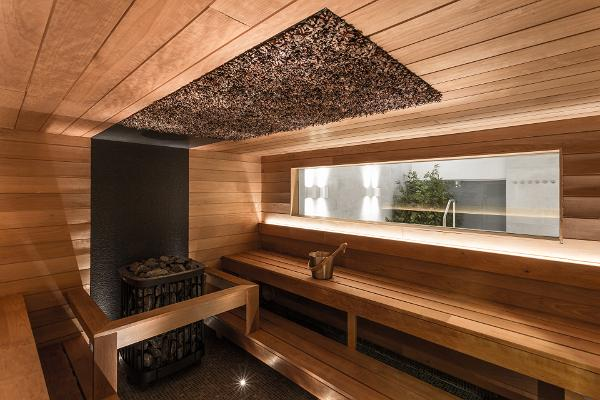 Pine cone sauna has cones in the ceiling that have been picked from the Laulasmaa forests