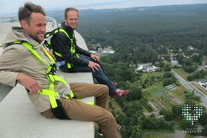 A walk on the edge - sitting 175 m from the ground