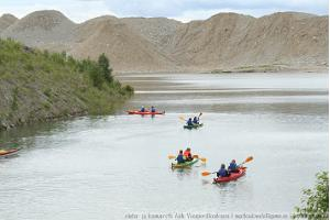 Kayaking in the Aidu quarry