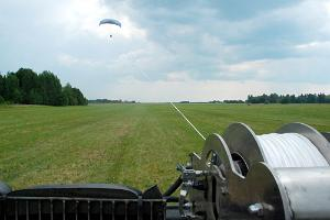 Winching a paraglide