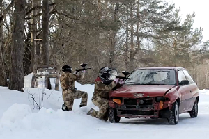 Motor-paintball in Tallinn, at a former Russian military unit