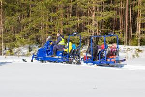 Joyrides on a snowmobile in Kõrvemaa
