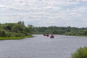 Rafting on the River Emajõgi