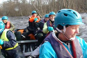 Rafting on Jägala River