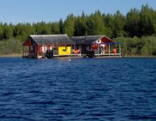 Rafting fun for school kids on the Emajõgi River