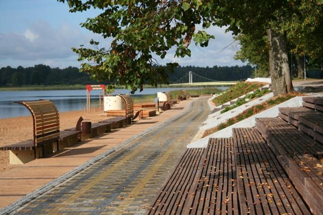 Lake Tamula Promenade in Võru