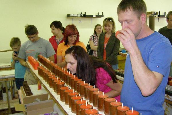 Excursion at the candle factory