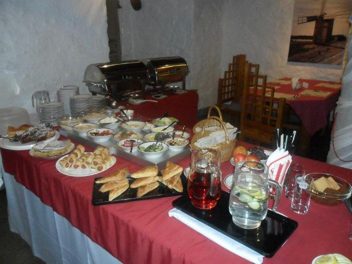 Buffet table at the Adavere windmill