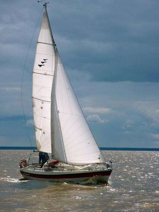 Sailing on Pärnu Bay