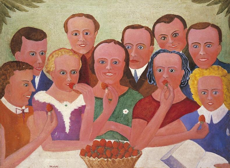 "Paul Kondas ""Strawberry Eaters"""