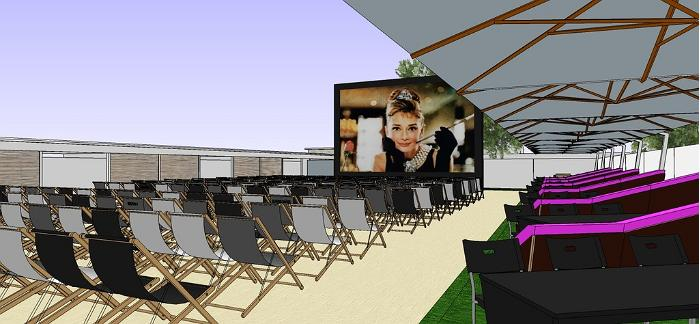 Beach Cinema opened in Pärnu