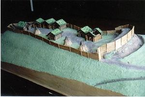 The model of Rõuge fortress
